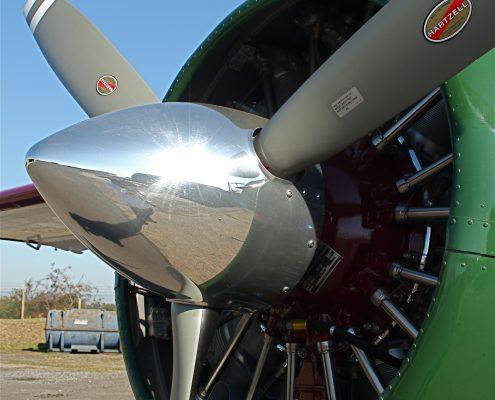 Aircraft jet that has been polished