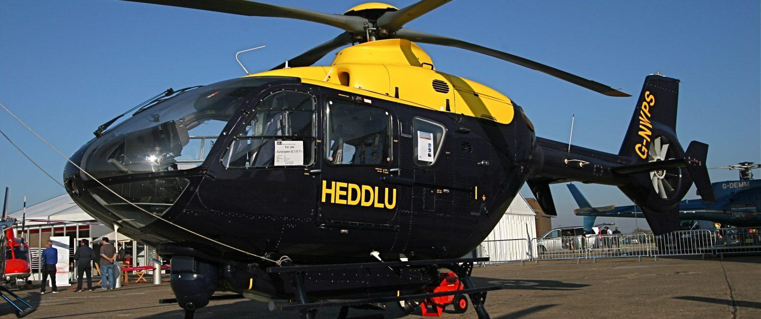 Black and yellow helicopter valeted and polished