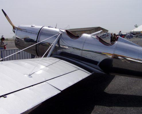 Two seater plane polished