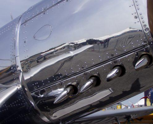 Aircraft highly polished