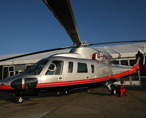 Helicopter valeted cleaned and polished