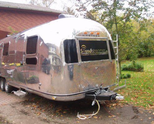 Airstream caravan polished