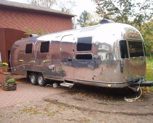 Airstream caravan professionaly polished