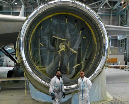 inlet nacelle polishing