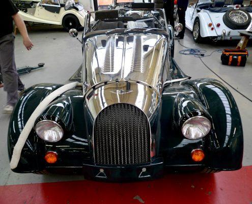old fashioned car polished