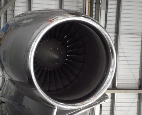 Jet engine polished