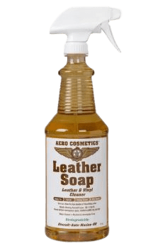 Leather soap bottle