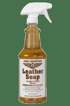 Leather soap bottle