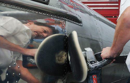 aircraft metal polishing