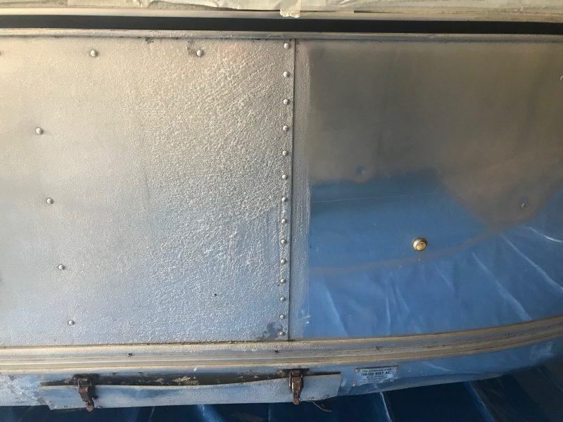 Stripping Airstream Caravan clearcoat