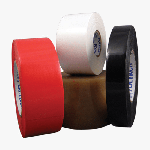Red, white and black tape
