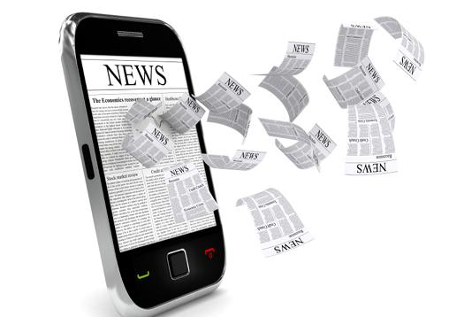 News sheets flying out of phone