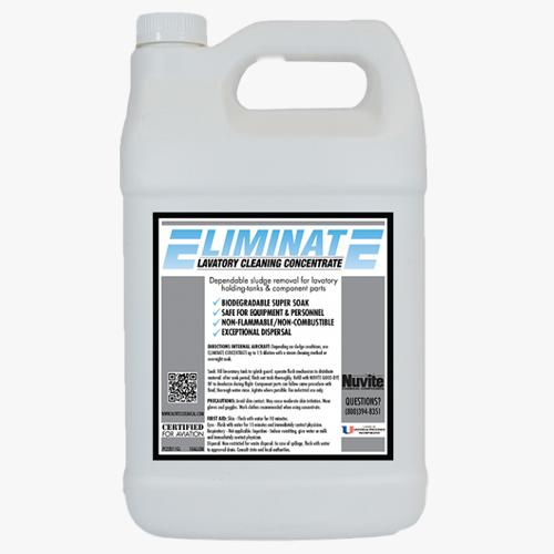 Eliminate lavatory cleaning concentrate