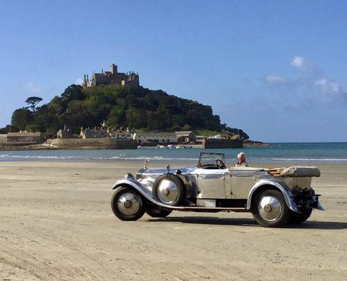 Vintage Rolls by the sea