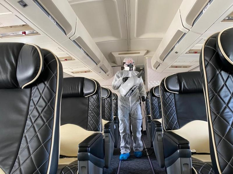 Aircraft fogging with bacoban for aerospace
