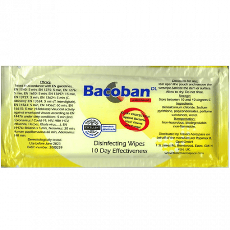 Bacoban disinfecting wipes